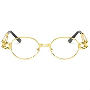 3aca1355d071 TSV Jewelers Accessories - Round Retro Gold Frame Clear Glasses
